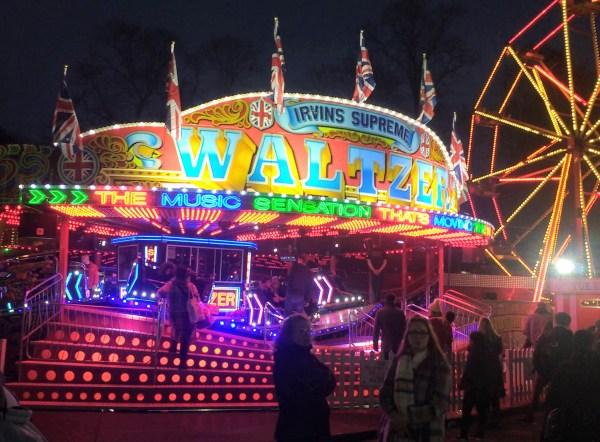 A fairground waltzer