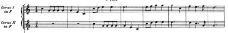 Handel Water Music HWV 348 Minuet music score for horns