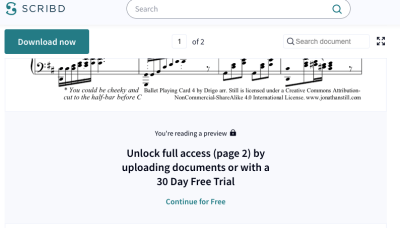 Screenshot of one of my 52 cards on Scribd