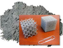 Metal powder, and resulting metal parts made from metal additive manufacturing process.  Photo - nist.gov.