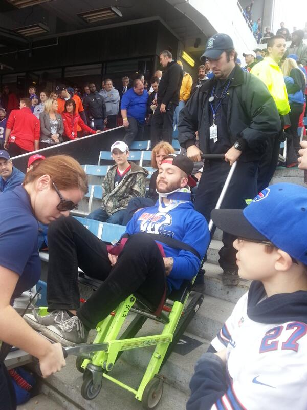 new concept 2b345 b6315 Buffalo Bills Fan Who Fell In Stadium Stunt Is Now Banned ...