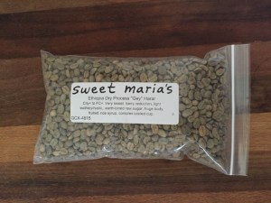 coffee beans green in bag