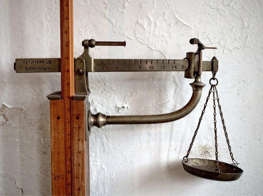old-fashioned scale