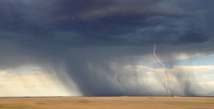 Time Lapse Shot of Lightning Strikes on Ground