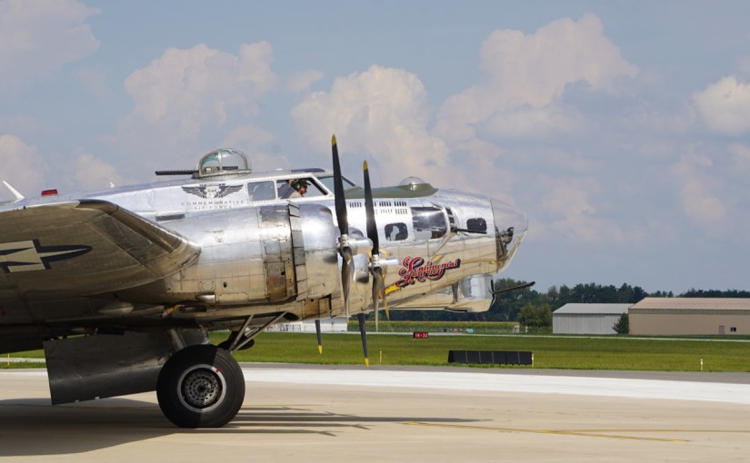 A B-17 Flying Fortress Visits Laporte Indiana