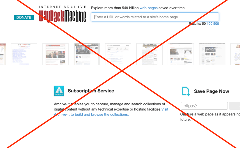 How To Get Your Website out of the Internet Archive Wayback Machine