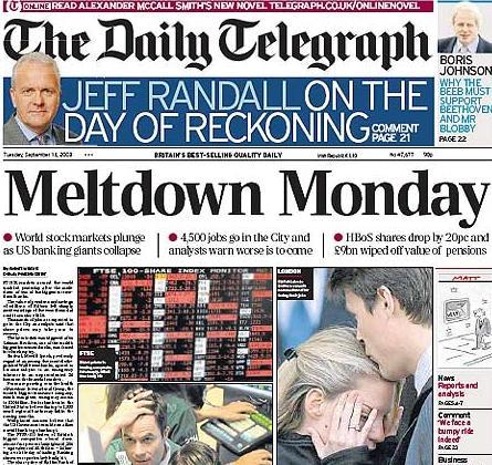 daily-telegraph-meltdown-monday-lehman-brothers