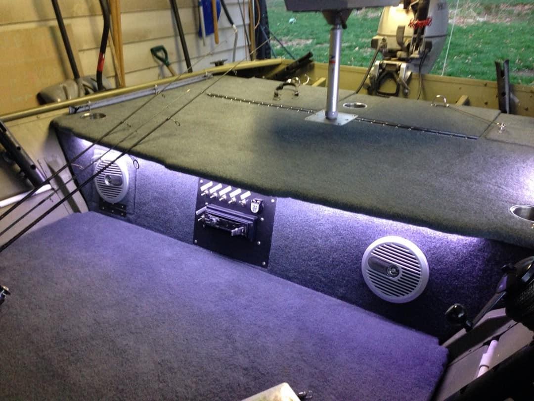 jon boat interior lighting ideas and
