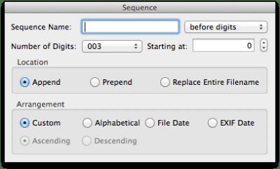 NameChanger Sequence Screen Shot