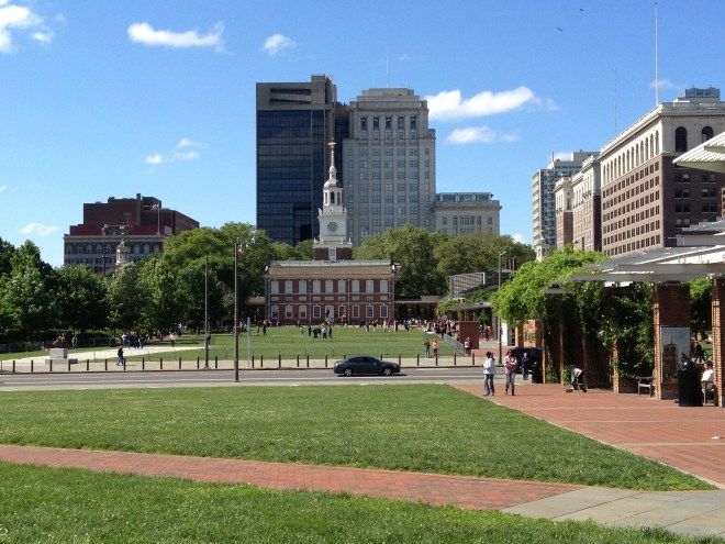 Independence Hall from across the mall.