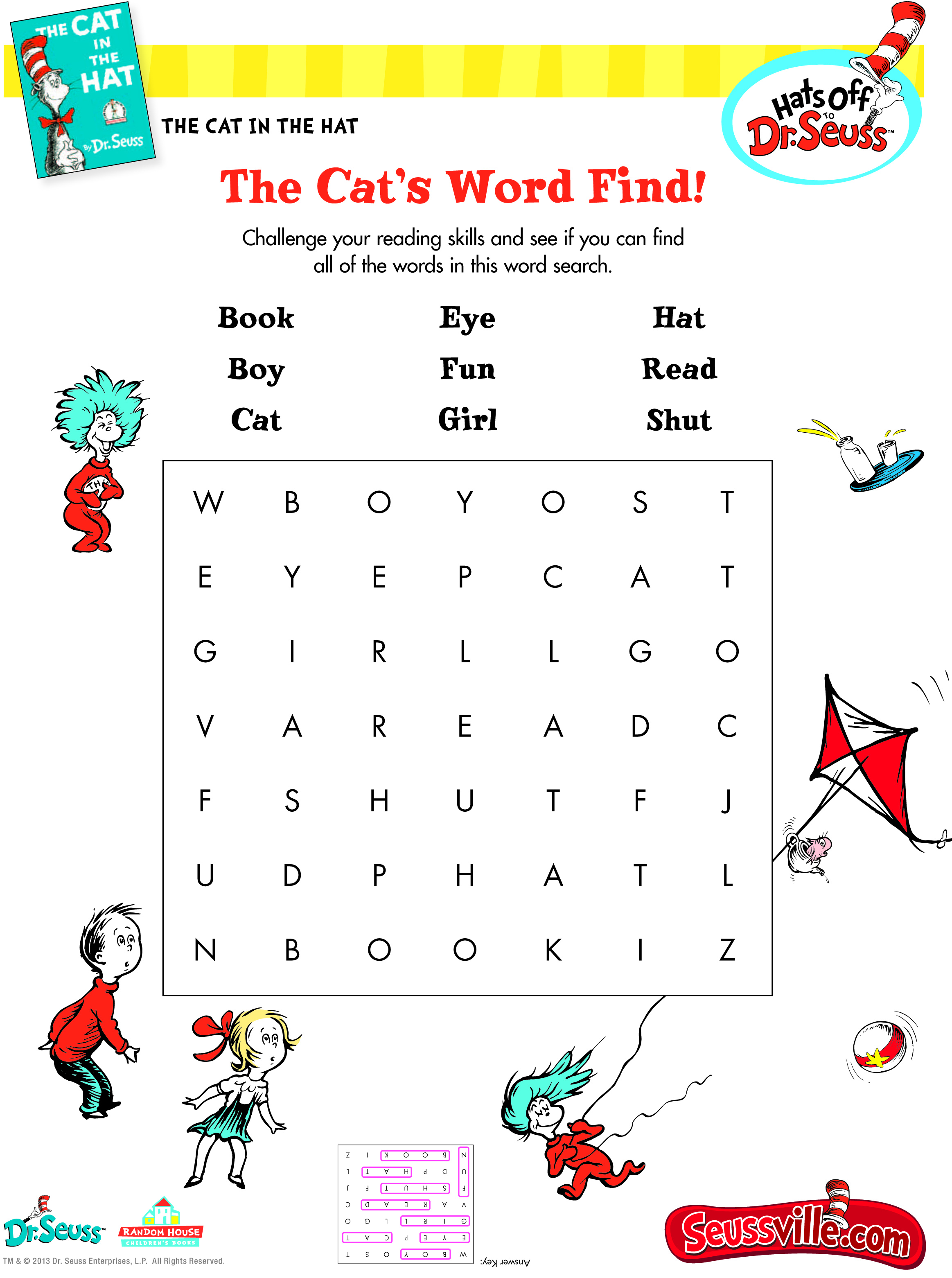 The Cat In The Hat S Word Find
