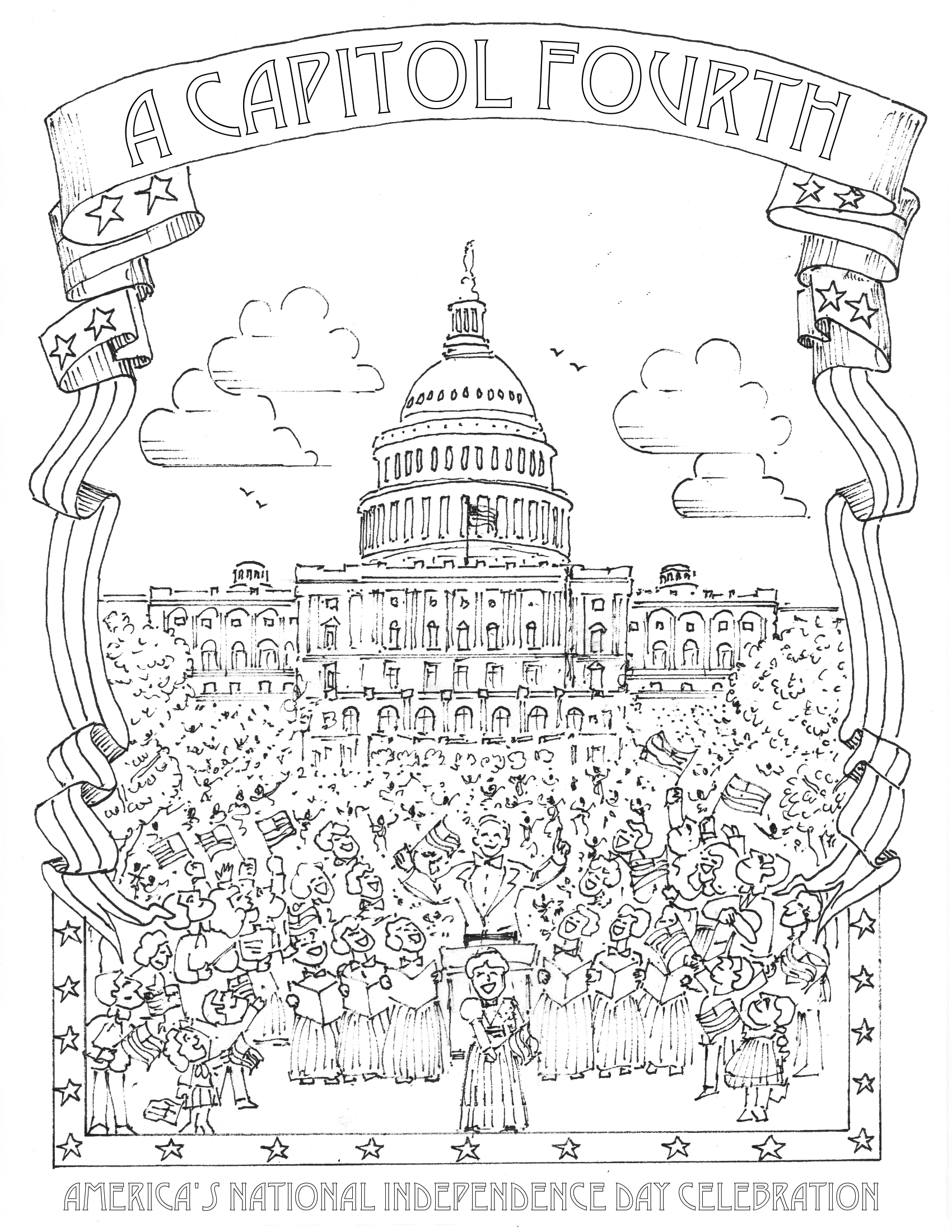 A Capitol Fourth Coloring Page