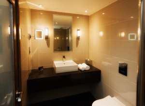 Bathroom in a hotel room