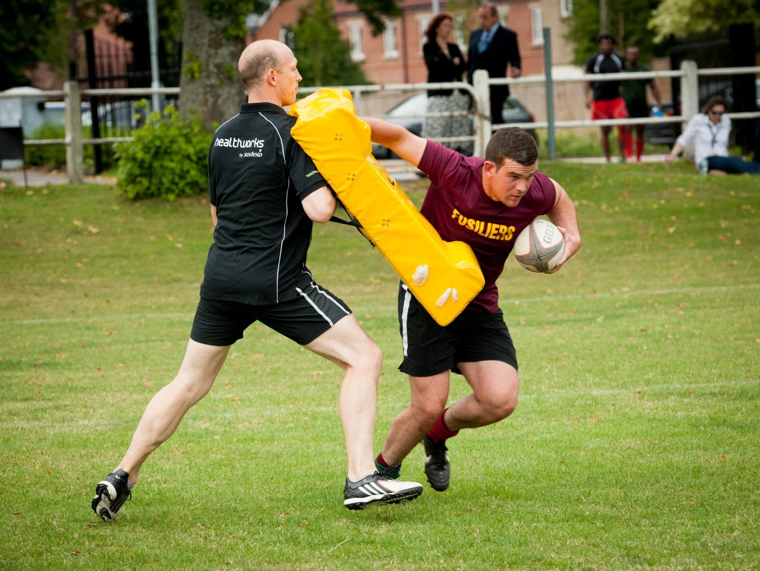 Matt Dawson rugby training with the Royal Fusiliers