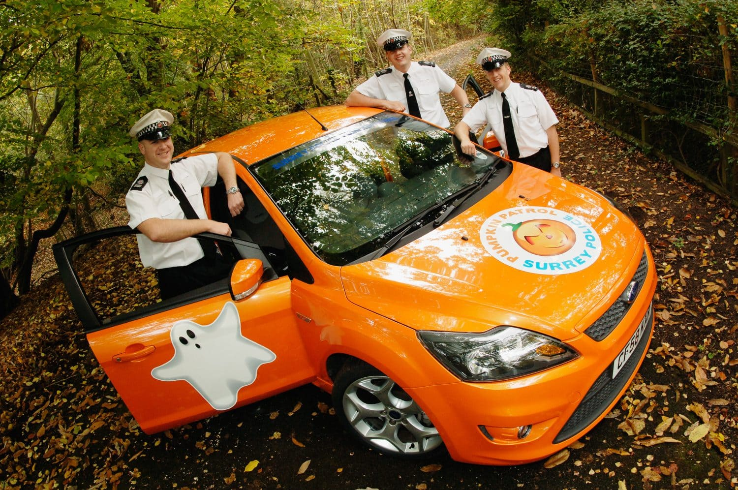 Surrey Police Pumpkin Patrol branded vehicle