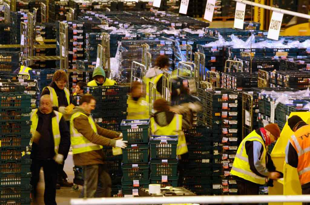 Packers at Christmas in the Gist Warehouse