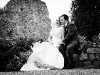 Black and white Farnham Castle Couple