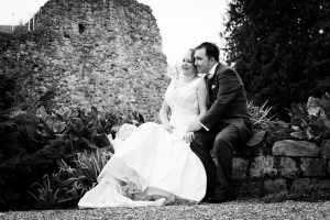 Black and white Farnham Castle Couple