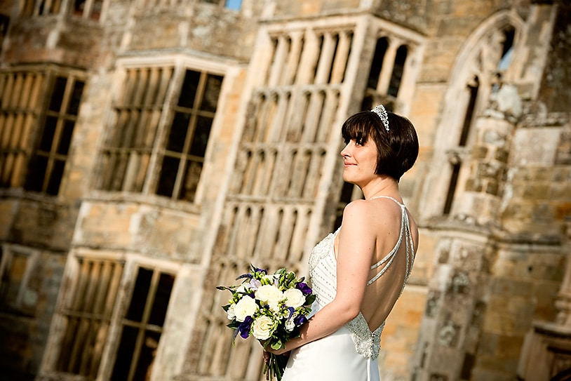 Bride at the Cowdray Ruins