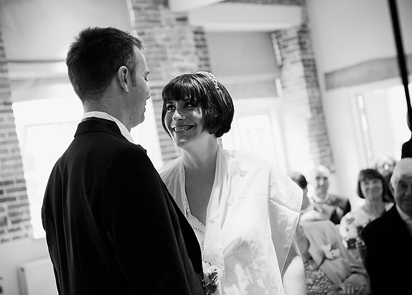 civil ceremony in the courtyard room at cowdray