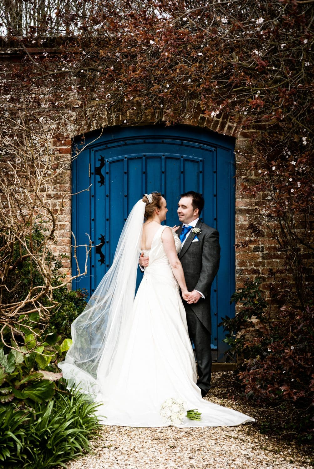Wedding in the gardens at Farnham Castle