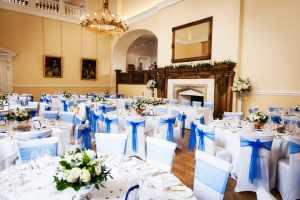 Modern wedding breakfast at Farnham Castle