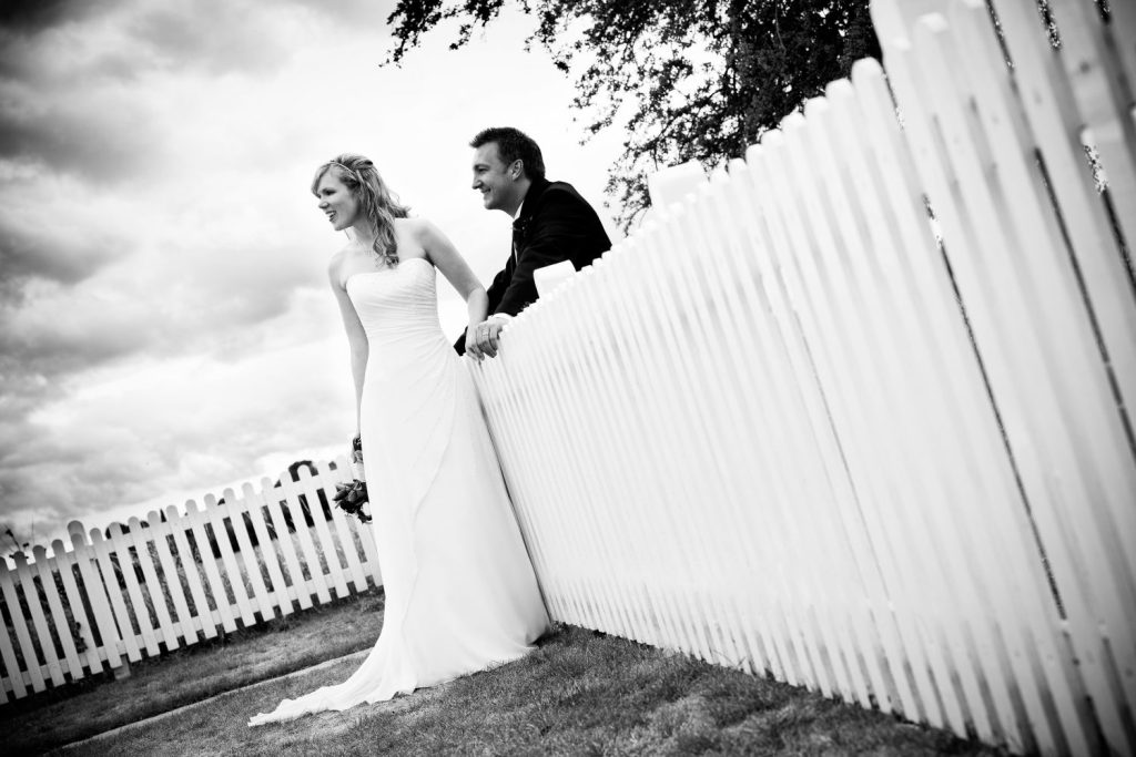 Picket fence wedding at The Inn at Lower Froyle