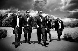 Pulp Fiction style wedding men at Wentworth