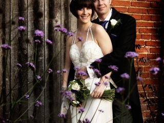 Romantic couple at the Walled Garden, Cowdray Park