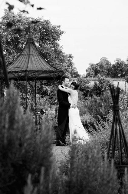 Intimate wedding photography at The Walled Garden