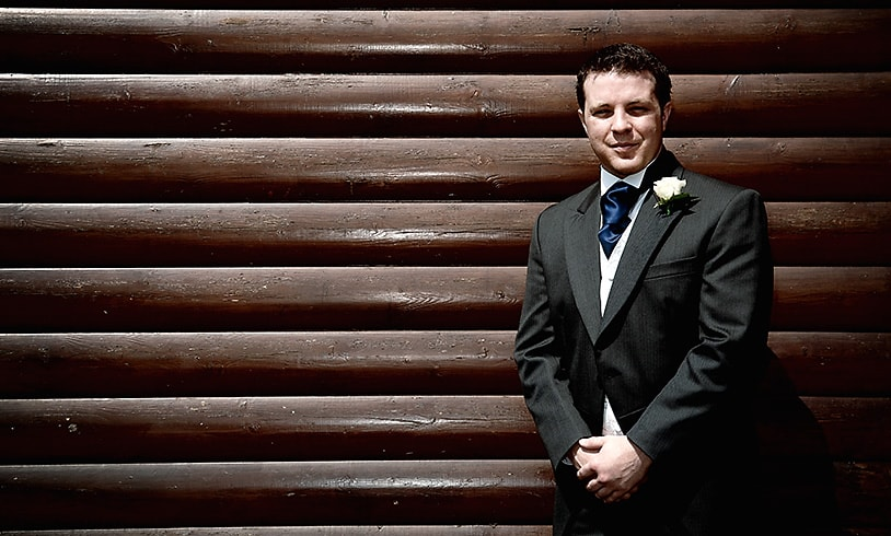 Stylish groom portrait