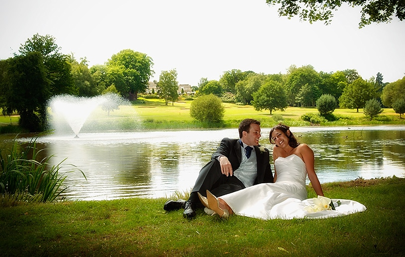 Relaxing By The Lake at wentworth wedding