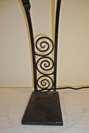 Degue wrought iron art deco desk lamp, circa 1930
