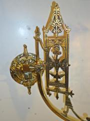 "Victorian ""Romanesque"" style gas wall lights, circa 1885"