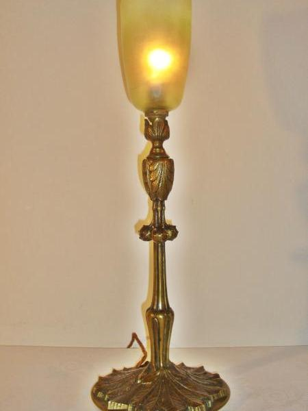 Good Quality French bronze table lamp, circa 1900