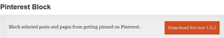 Pinterest Block