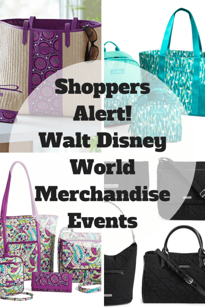 Shoppers Alert! Walt Disney World Merchandise Events including new Vera Bradley products.