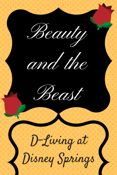 Check out the Beauty & the Beast inspired merchandise inside D-Living Disney Springs at Walt Disney World