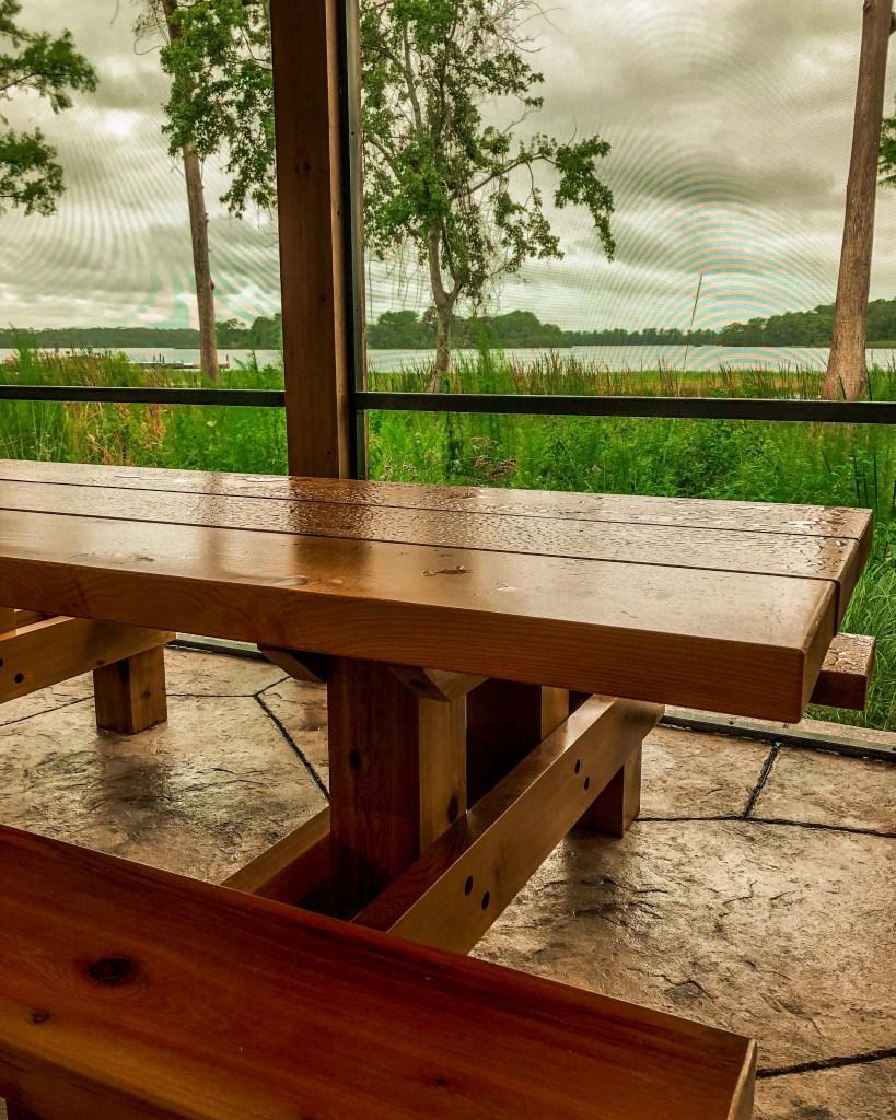 Copper Creek Cabins Picnic Table