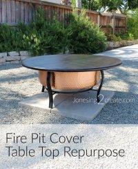 Fire Pit Cover Table Top Repurpose - Jonesing2Create