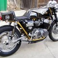 Traditional large displacement cafe platform 77 honda cb750