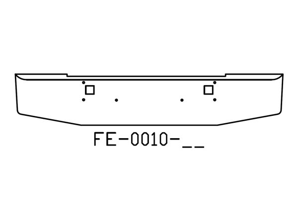 V-FE-0010-02 Aftermarket, Fits Kenworth W900L W900B Bumper