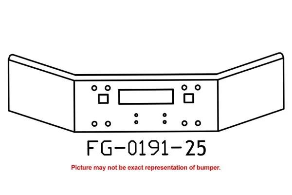 V-FG-0191-25 Aftermarket, Fits Kenworth T800 Bumper, 14