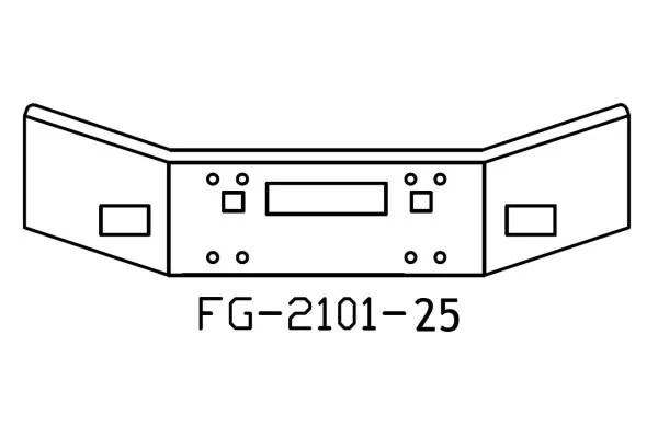 V-FG-2101-25 Aftermarket, Fits Kenworth T800 Bumper, 14