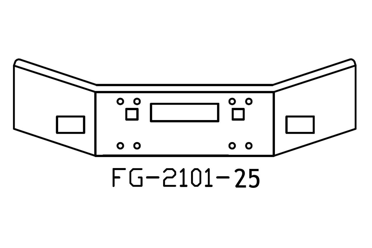 140-FG-2101-25 Aftermarket, Fits Kenworth T800 Bumper, 14