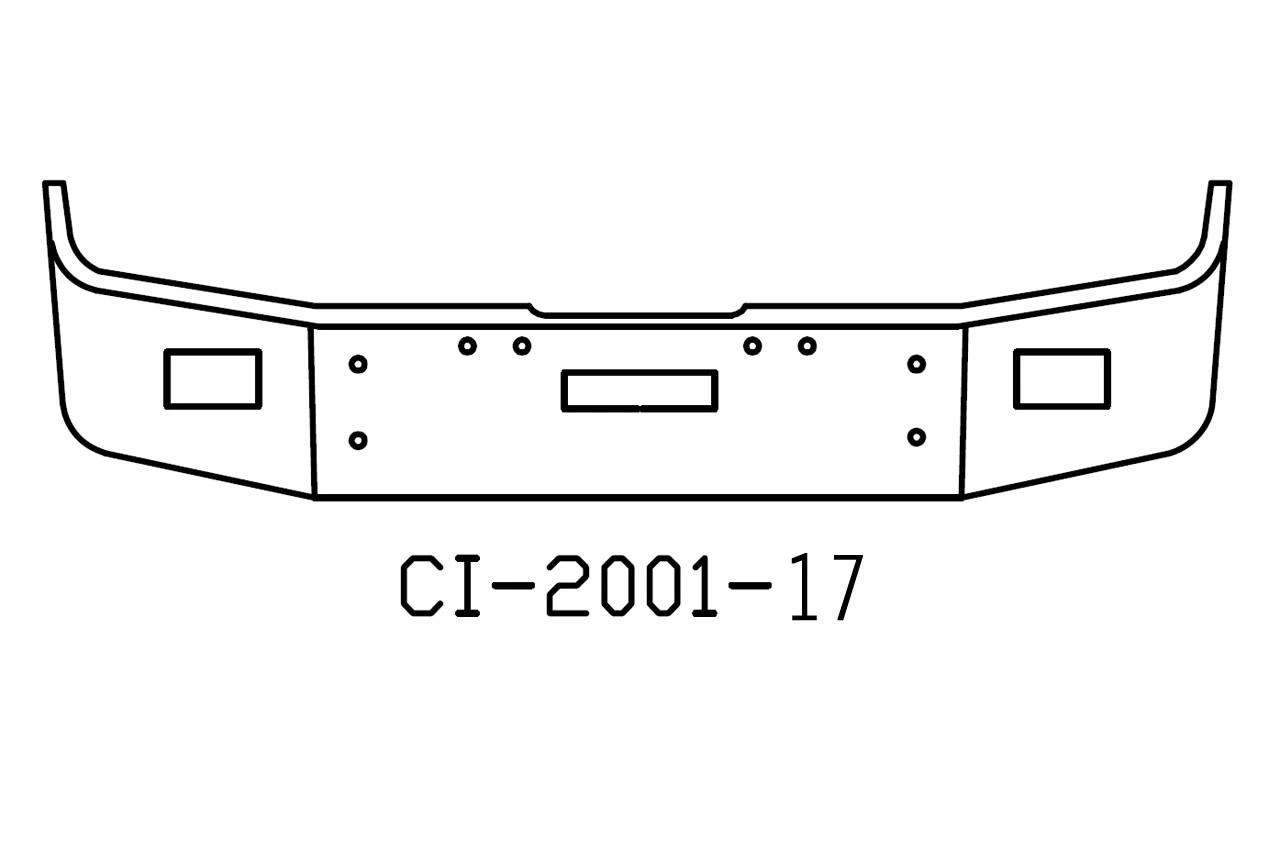V-CI-2001-17 Aftermarket, Fits Freightliner FLD120 FLD112