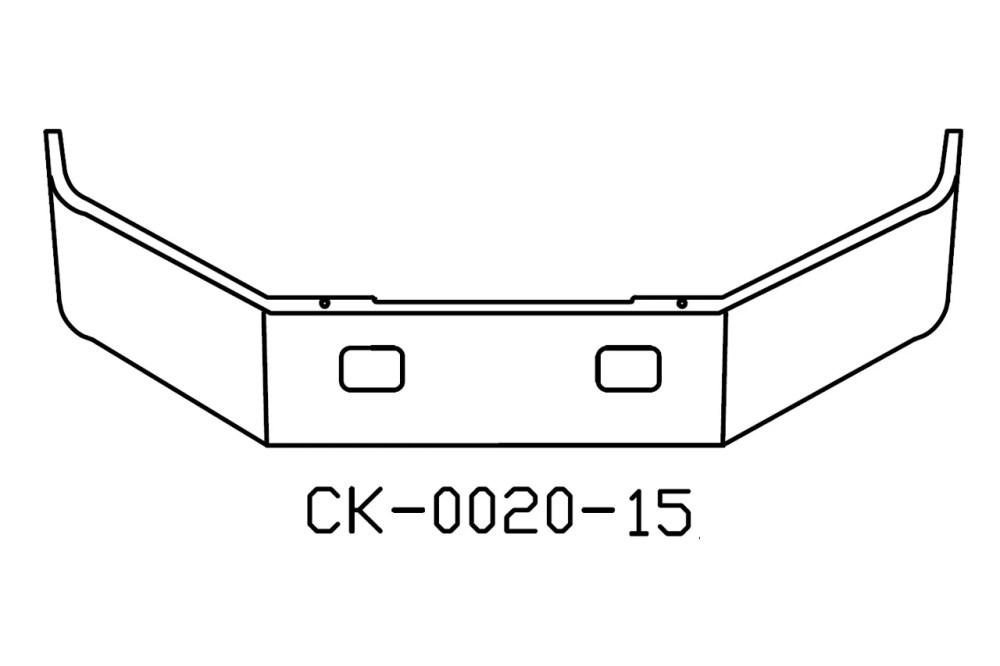 medium resolution of freightliner fl50 fl60 fl70 fl80 12in chrome bumper
