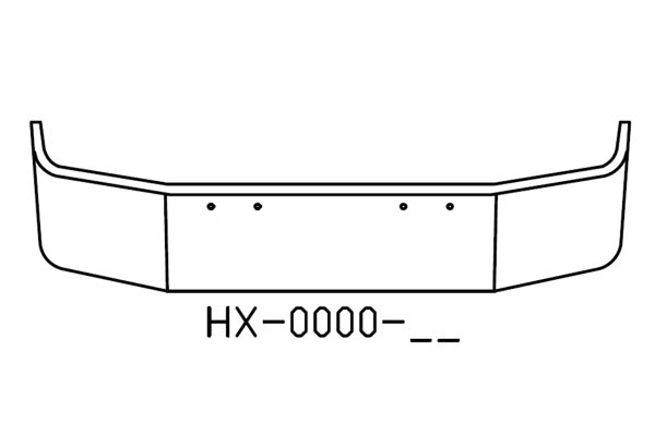 "V-HX-0000-17 Aftermarket, Fits Peterbilt 367 18"" SBA"