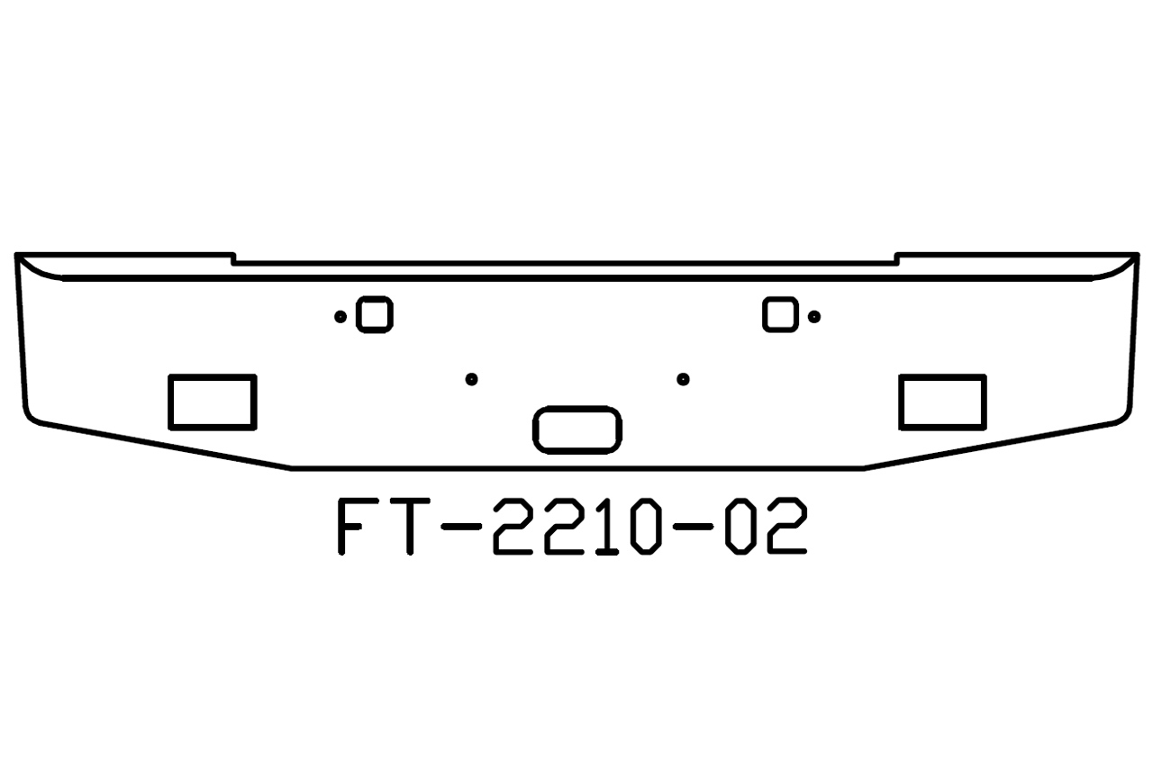 140 Ft 02 Aftermarket Fits Kenworth W900b 18 Bumper