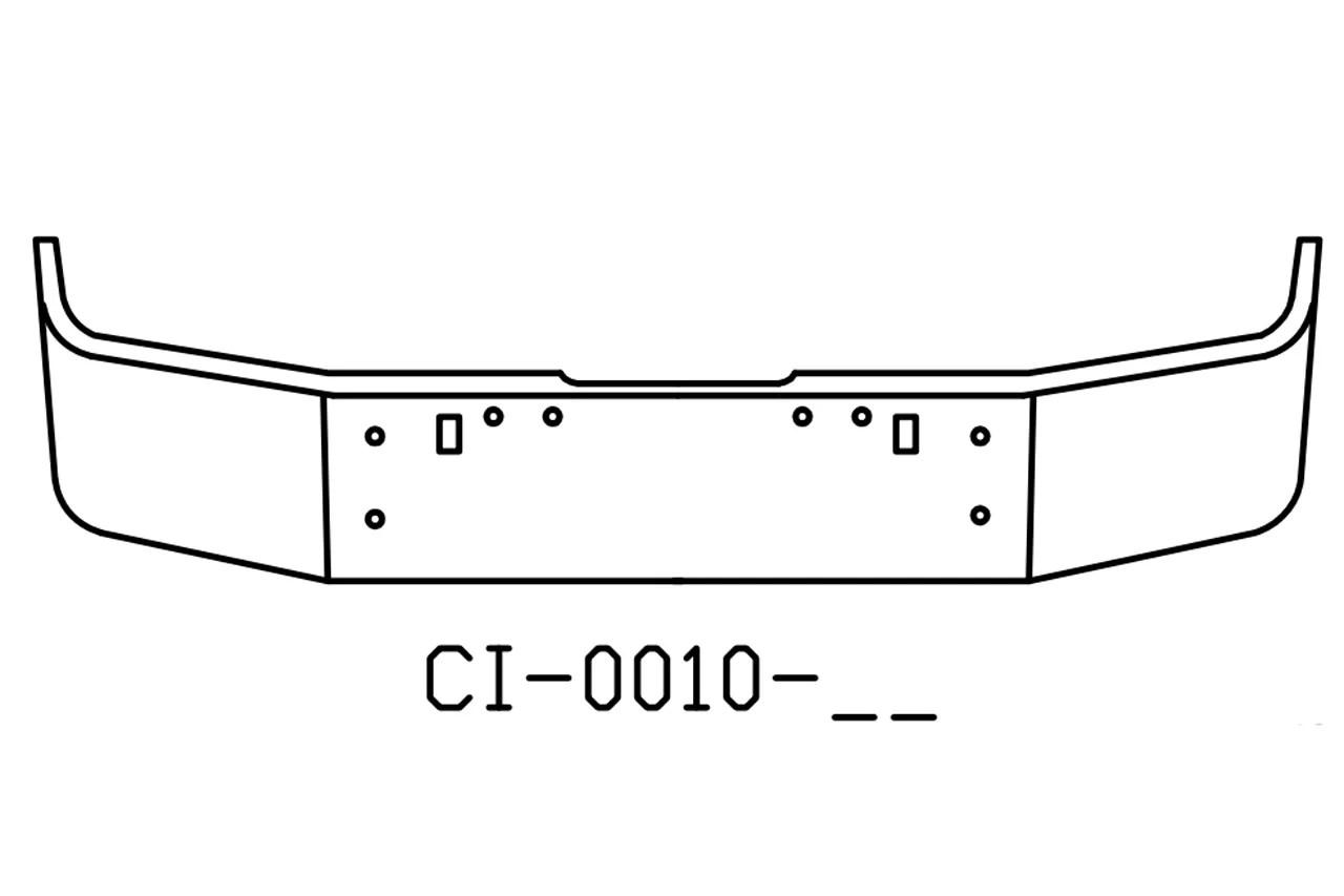 V-CI-0010-17 Aftermarket, Fits Freightliner FLD120 FLD112